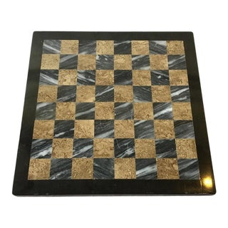 Small Inlaid Marble Chess Board For Sale