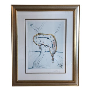 "Salvador Dali Photomechanical Graphic ""Tearful Soft Watch"" For Sale"