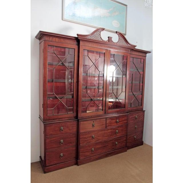 Elegant Period George III Mahogany Breakfront Bookcase - Image 4 of 11