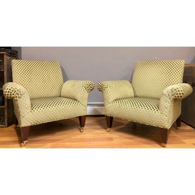 Green George Smith Butterfly Chairs- A Pair For Sale - Image 8 of 8