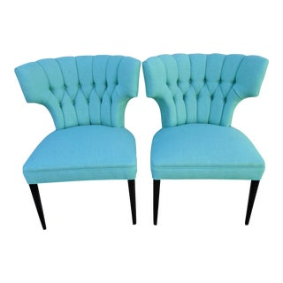 Mid-Century Modern Wingback Chairs - a Pair For Sale