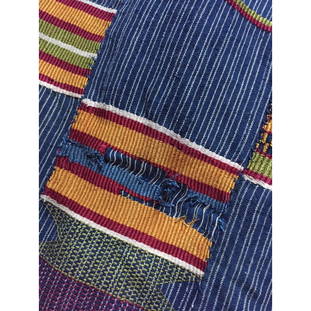 Vintage African Textile Kente Cloth Cotton Fabric / Blanket - Image 4 of 10