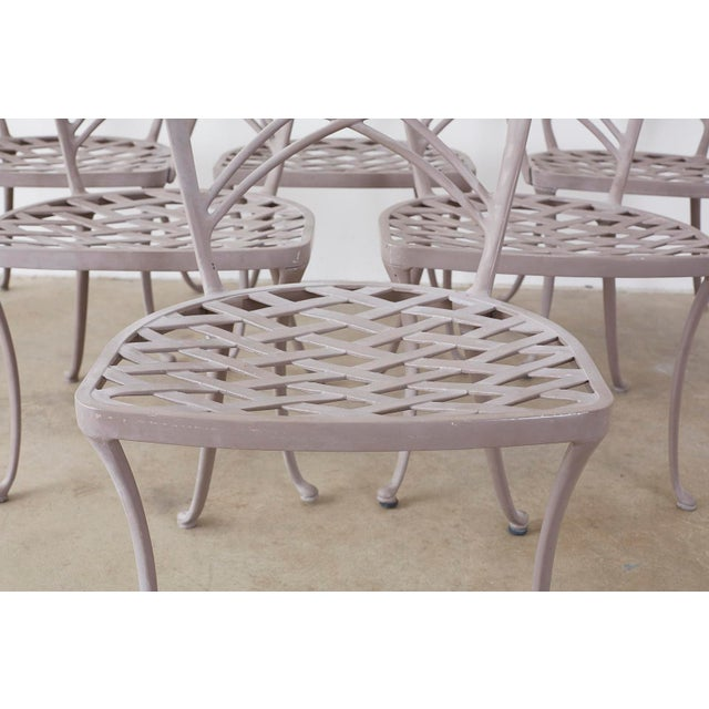 Metal Brown Jordan Neoclassical Garden Dining Chairs - Set of 6 For Sale - Image 7 of 13