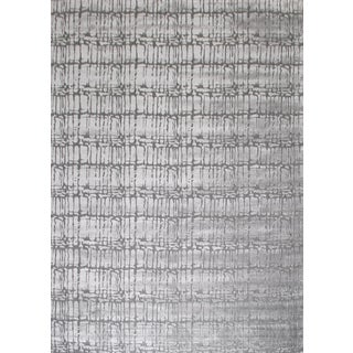 Hand-Knotted Wool & Bamboo Silk Modern Rug - 10′ × 14′ For Sale