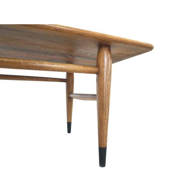 Mid-Century Ash and Walnut Coffee Table by Lane - Image 7 of 9