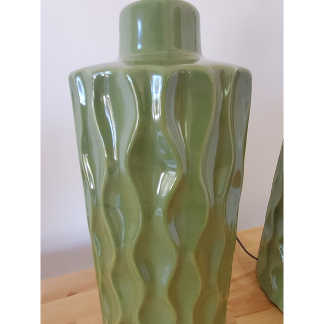 Mid-Century Modern Mid-Century Modern Green Table Lamps - a Pair For Sale - Image 3 of 6