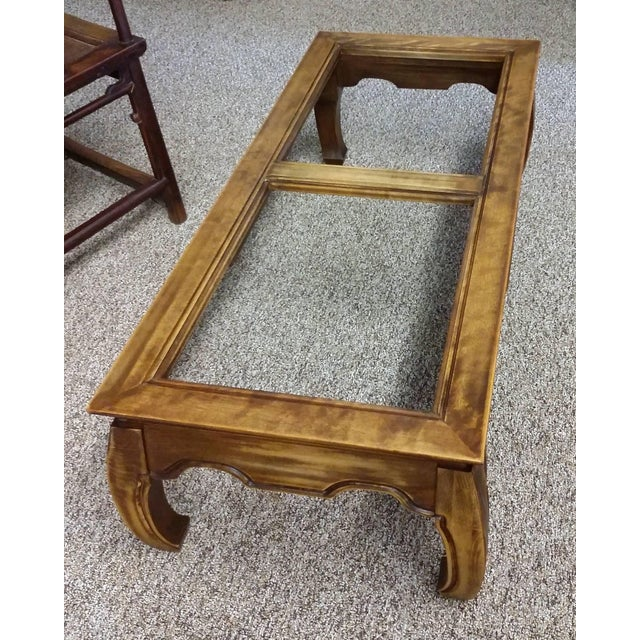Mid-Century Chinese Classic Wood Coffee Table - Image 3 of 7