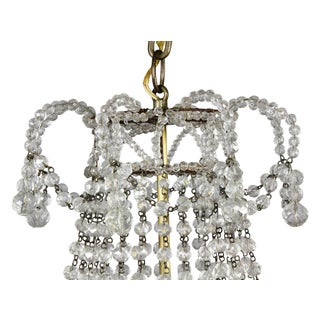 Hollywood Regency Crystal Chandelier Preview