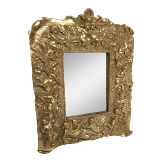 Baroque Gold Gilt Cherub Mirror