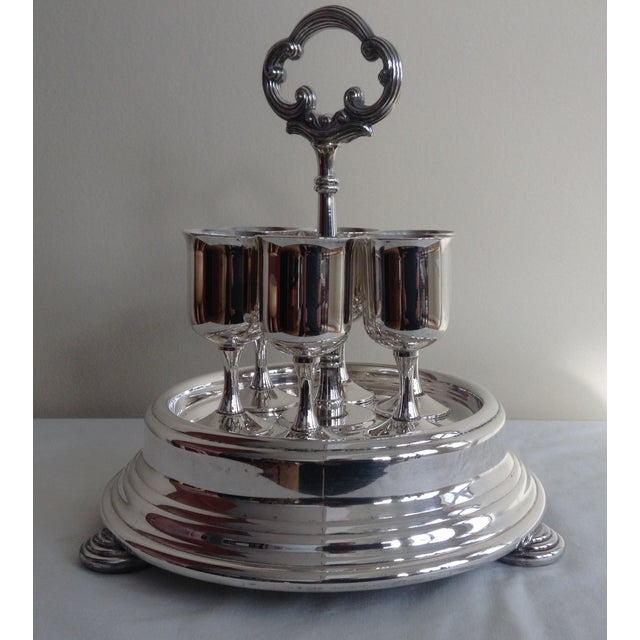 Americana Taunton Silver Cordials & Caddy Holder For Sale - Image 3 of 10