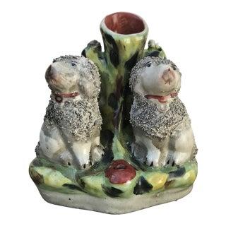 Staffordshire Poodles Spill Vase For Sale