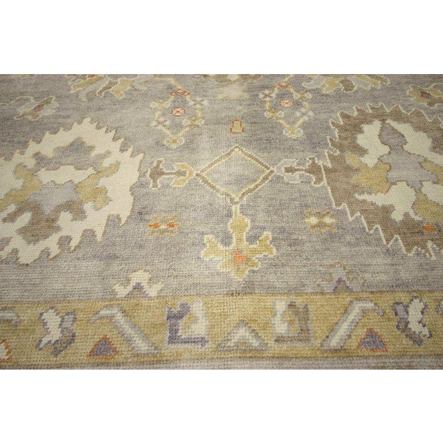 Early 21st Century Contemporary Turkish Oushak Area Rug - 11′4″ × 13′10″ For Sale - Image 5 of 8