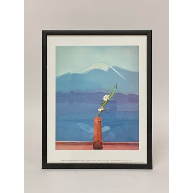 """Pop Art Framed Museum Lithograph """"Mount Fuji and Flowers"""" by David Hockney For Sale - Image 11 of 11"""