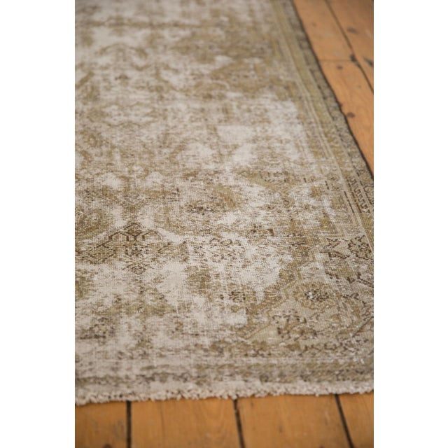 "Vintage Distressed Fragment Malayer Rug - 3'1"" X 5'1"" For Sale In New York - Image 6 of 11"