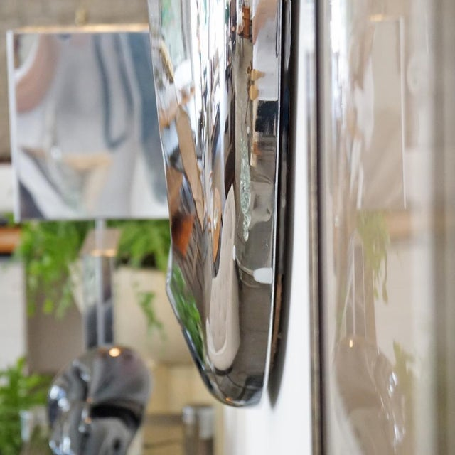Mid 20th Century 1970s Chrome Orb Mirror For Sale - Image 5 of 6