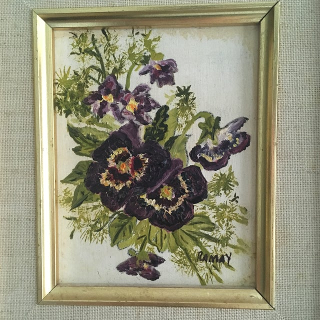 Vintage Floral Oil Painting - Image 2 of 6