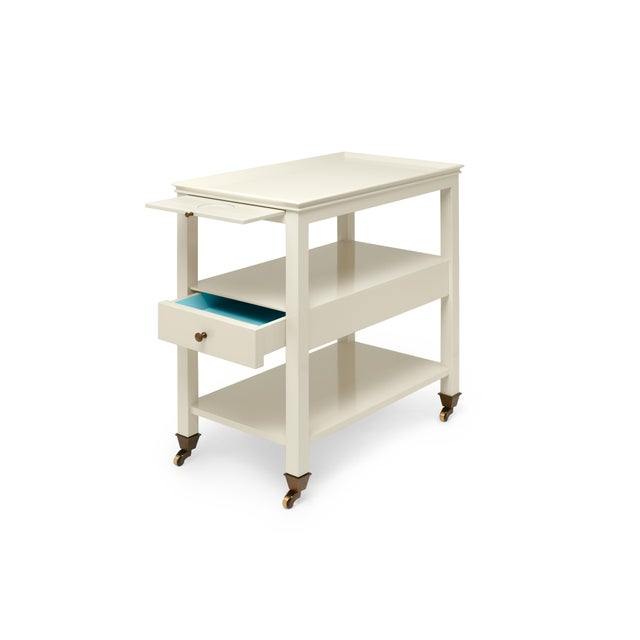 Miles Redd Collection Practical Nightstand in Ivory For Sale - Image 4 of 6
