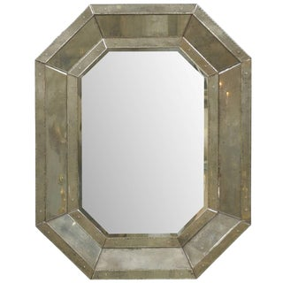 Octagonal Venetian Style Mirror With Beveled Surround For Sale