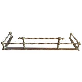 Rope Motif Brass Fireplace Fender