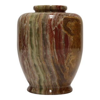 Earth Tone Marble Vase