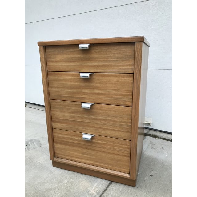 Brown 1940s Mid-Century Modern Edward Wormley for Drexel Bedside Dresser For Sale - Image 8 of 10