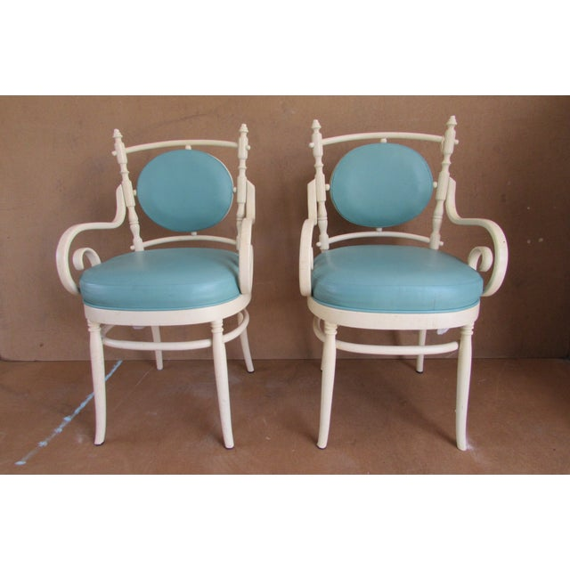 Palm Beach Regency Bentwood Chairs - Pair - Image 2 of 4