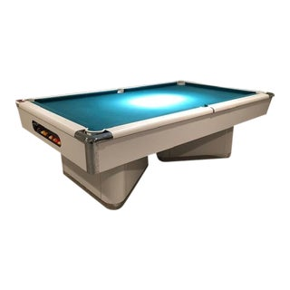 Vintage Modern Deco Postmodern White Pool Table For Sale