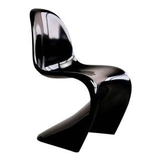 Set of Four Black Panton Chairs