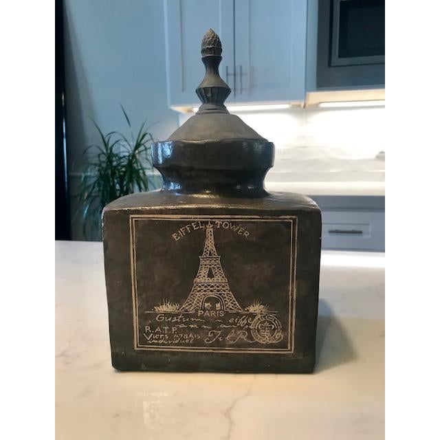 Eifel Tower Jar With Lid For Sale - Image 13 of 13