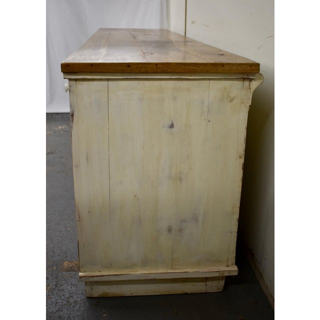 Early 20th Century Massive Vintage Painted Pine and Oak Store Counter For Sale - Image 5 of 13