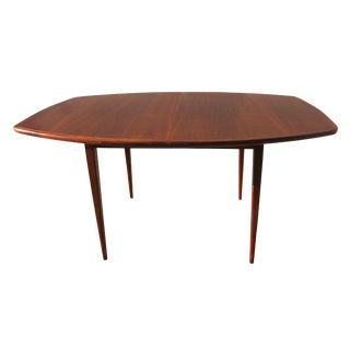 1970's Danish Modern Walnut Extendable Dining Table For Sale