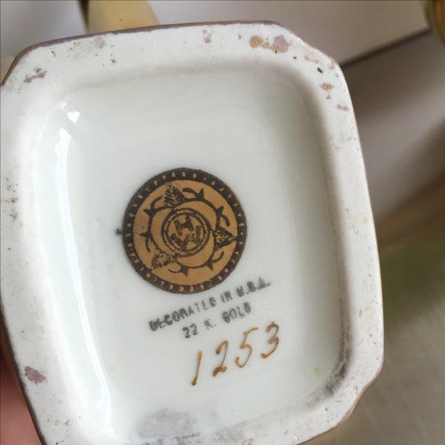 22 Karat Gold Cream and Sugar - Pair - Image 7 of 7
