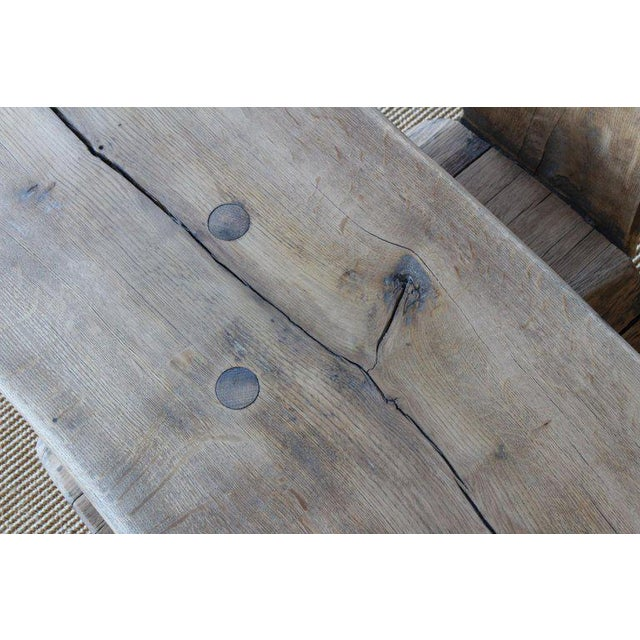 Oak Pair of Oak Benches, France, 1960s. Sold Individually. For Sale - Image 7 of 12