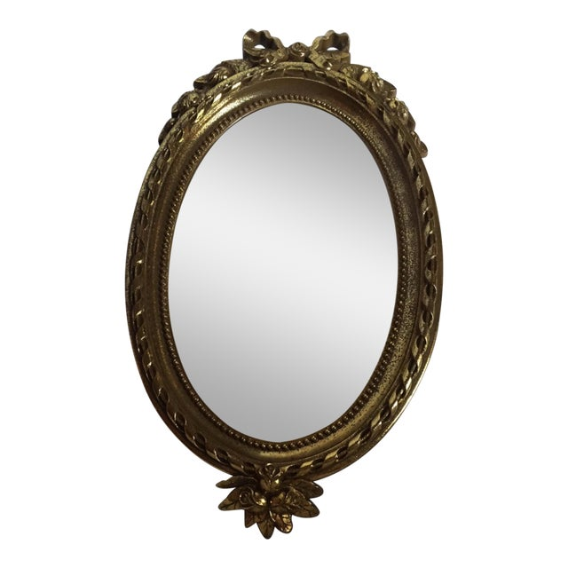 home interiors gold oval mirror chairish