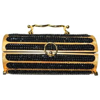 Judith Leiber Swarovski Handbag 1968 / Florentined Cylinder For Sale