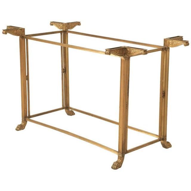 Vintage Bronze Table or Kitchen Island Base For Sale - Image 11 of 11