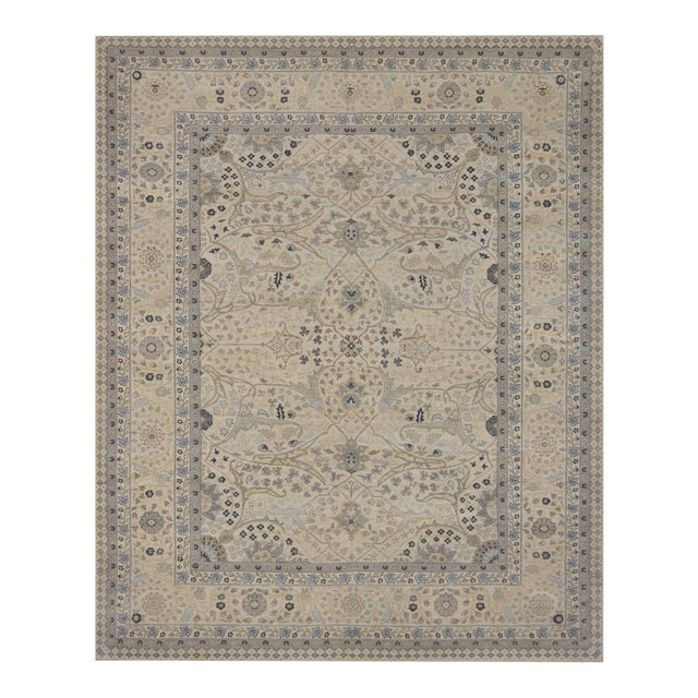"""Mansour Exceptional Tabriz Rug - 8' X 9'9"""" For Sale"""
