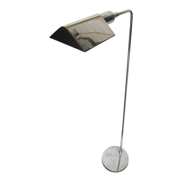 Koch & Lowy Chrome Tent Shade Pharmacy Lamp For Sale