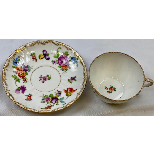 Antique 19th Century Richard Klemm Dresden Porcelain Demitasse Cup & Saucer For Sale In Greensboro - Image 6 of 10