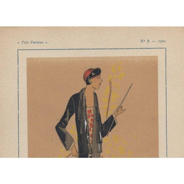 Art Deco 1924 Art Deco Fashion Pochoir Illustration For Sale - Image 3 of 4