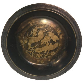 Modernist Art Deco Inlaid Bowl by Just Andersen For Sale