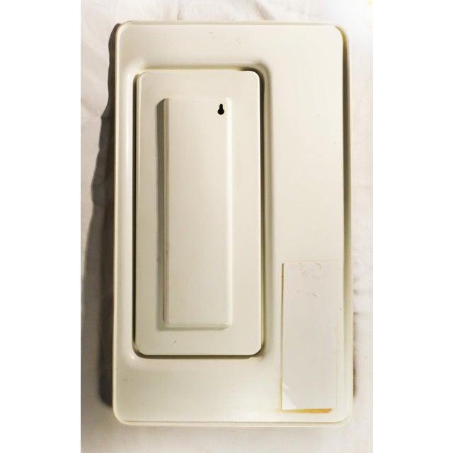 White Plastic Italian Mod Mirror For Sale - Image 5 of 5