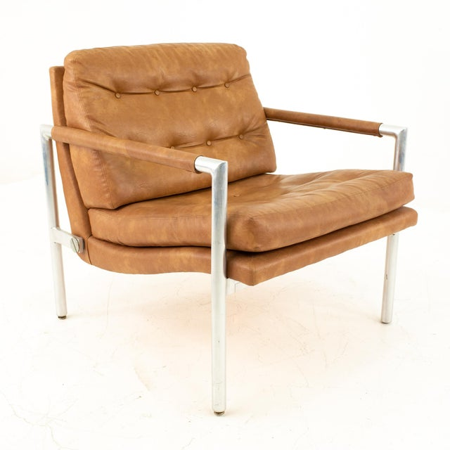 Founders Furniture Company Jack Cartwright for Founders Mid Century Lounge Chairs - Pair For Sale - Image 4 of 11