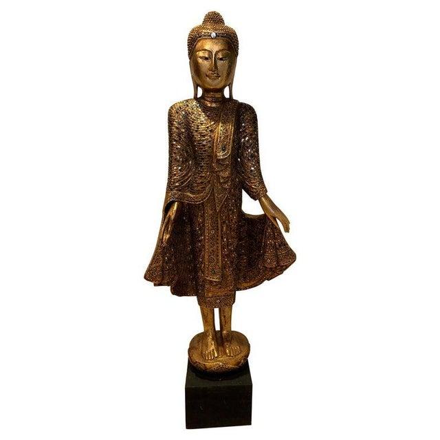 Glass 1950's Thailand Gandhara Buddha For Sale - Image 7 of 7