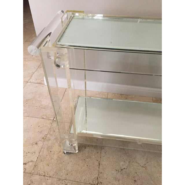 1970s Mid-Century Modern Mirrored Bar Cart Trolley For Sale - Image 4 of 13