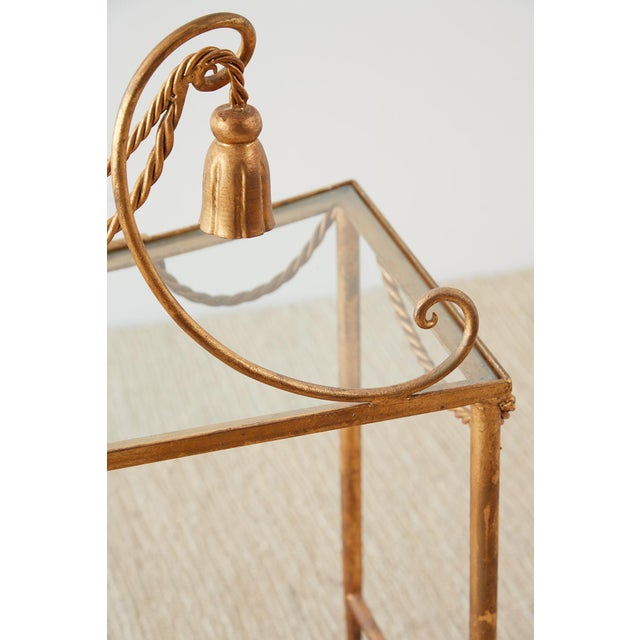 Gold Hollywood Regency Gilt Iron and Faux Rope Vanity For Sale - Image 8 of 13