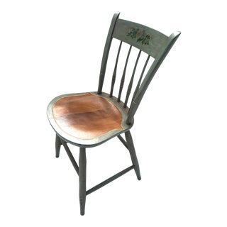 Nichols & Stone Country Thumb-Back, Spindle Chair For Sale