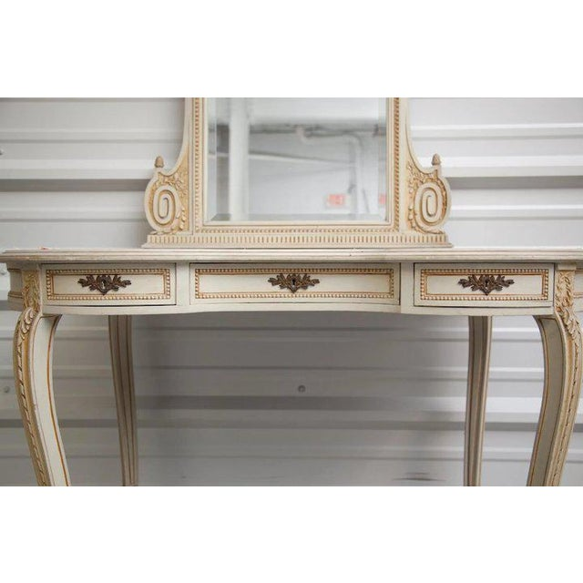 Vintage Vanity Dressing Table With Mirror From Belgium Castle Chairish