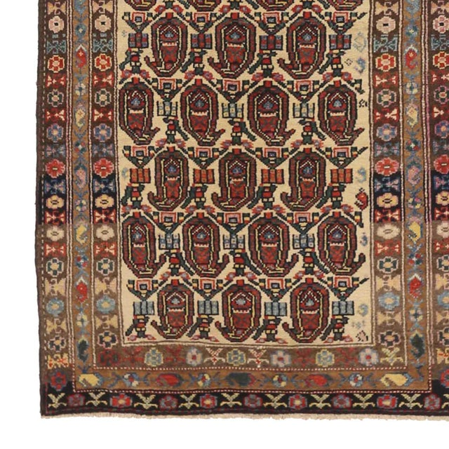 Persian Antique Persian Area Rug Bakhtiar Design For Sale - Image 3 of 5