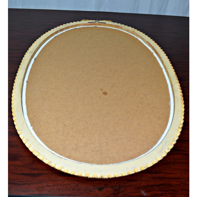 Oval Italian Gilt Mirror with Bow For Sale - Image 12 of 12